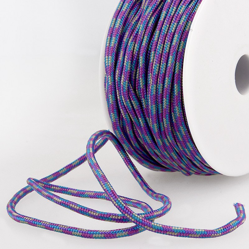 Multicoloured Cord 3mm purple 90