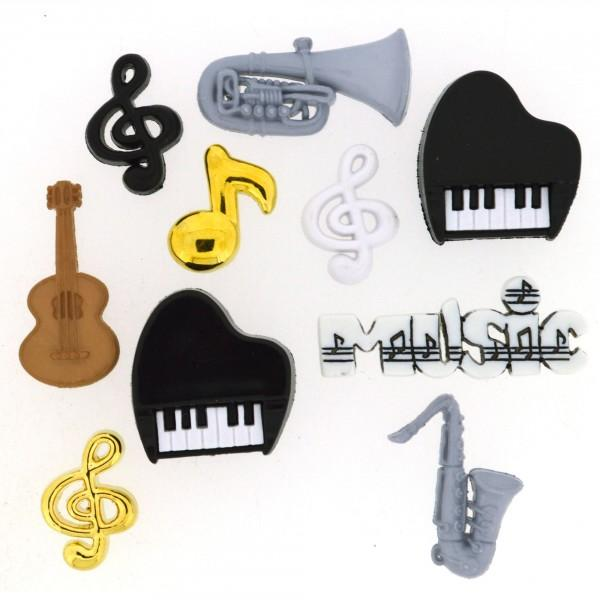 Music Dress it Up Button Pack