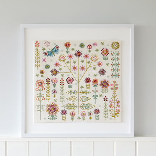 Garden Embroidery Kit