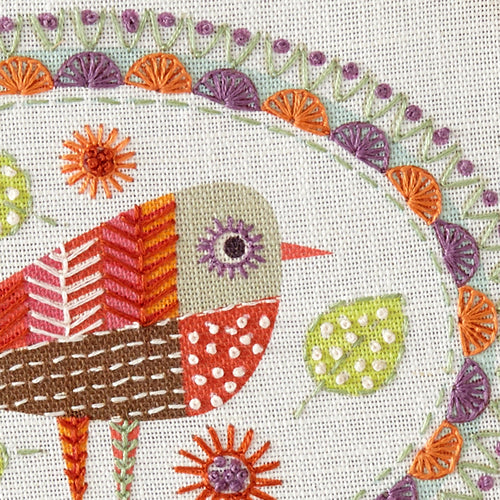 Bird 3 Embroidery Kit