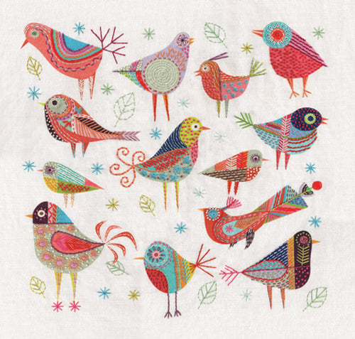 Bird Cushion Embroidery Kit