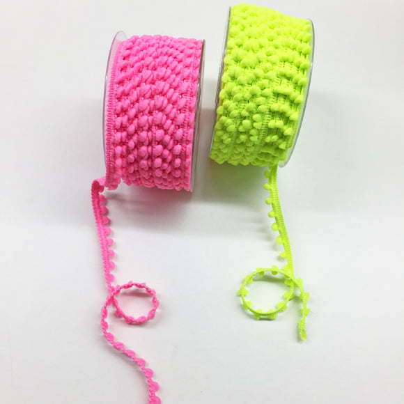 Neon Pink Mini Pompom Trim 9mm 204