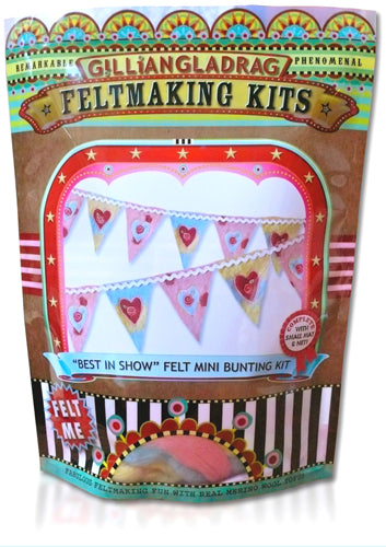 Best in Show Bunting (SML) Wet Felting Bunting Kit