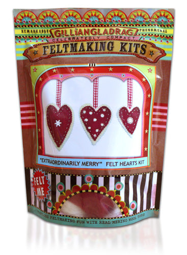 Extraordinarily Merry Hearts Felting Kit