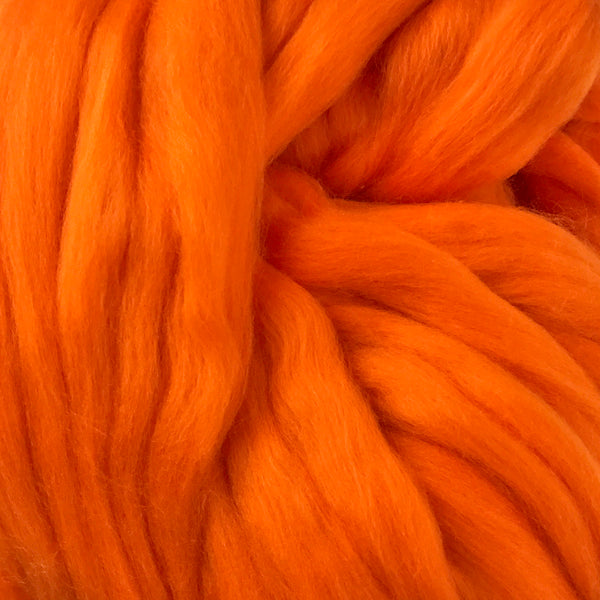Orange Merino wool tops for felting & giant knitting
