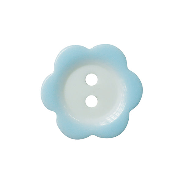 Fade Flower button 11mm 020 Pale Blue
