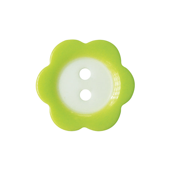 Fade Flower button 15mm 021 Pale Green