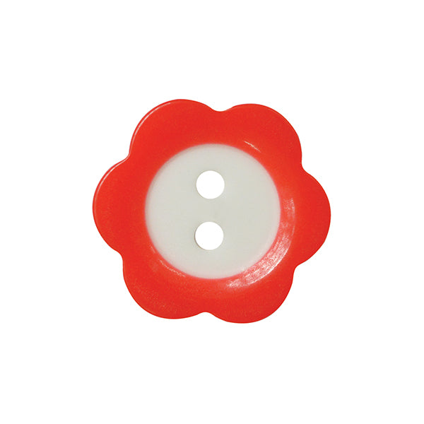 Fade Flower button 15mm 29 red