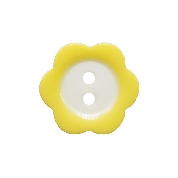 Fade Flower button 15mm 025 Yellow