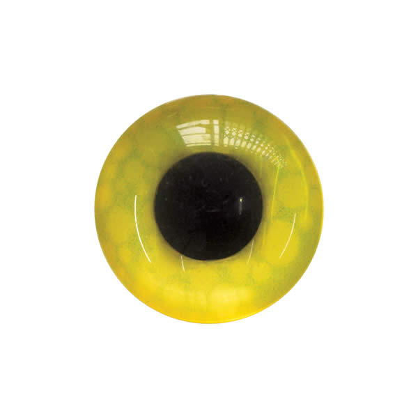 Sew on Eye Button 11mm 2E Yellow