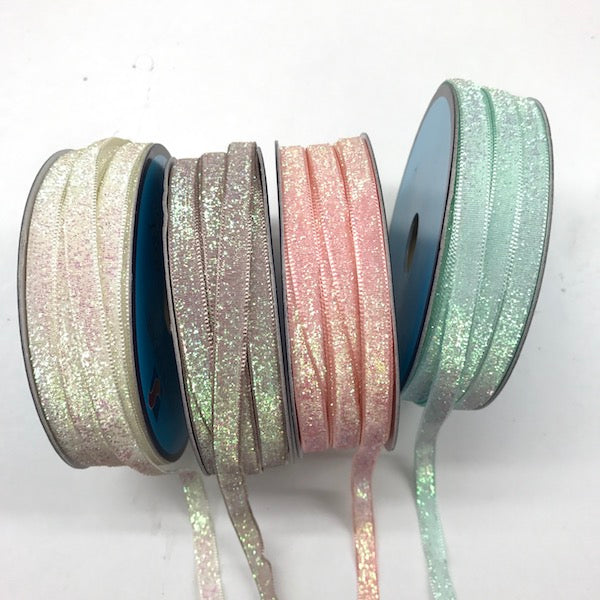 Pastel Glitter Ribbon Cream