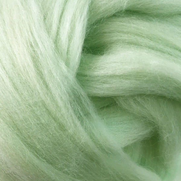 100g Peppermint Merino wool tops for felting & giant knitting