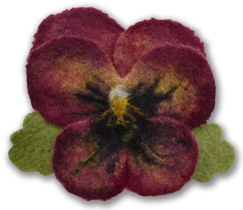 Poetic Pansy Flower Corsage Felting Kit