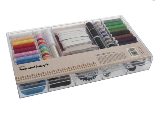 Professional Sewing Kit: 167 Piece