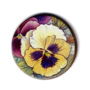Handmade Ceramic Brooch : Pansies