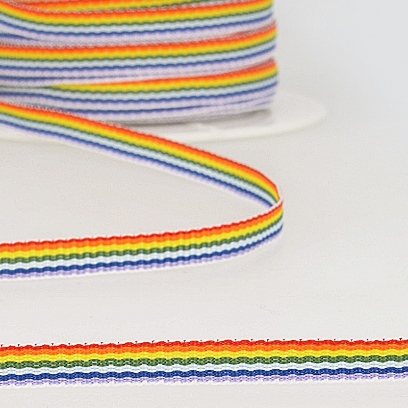 Rainbow Grosgrain 6mm Col 100