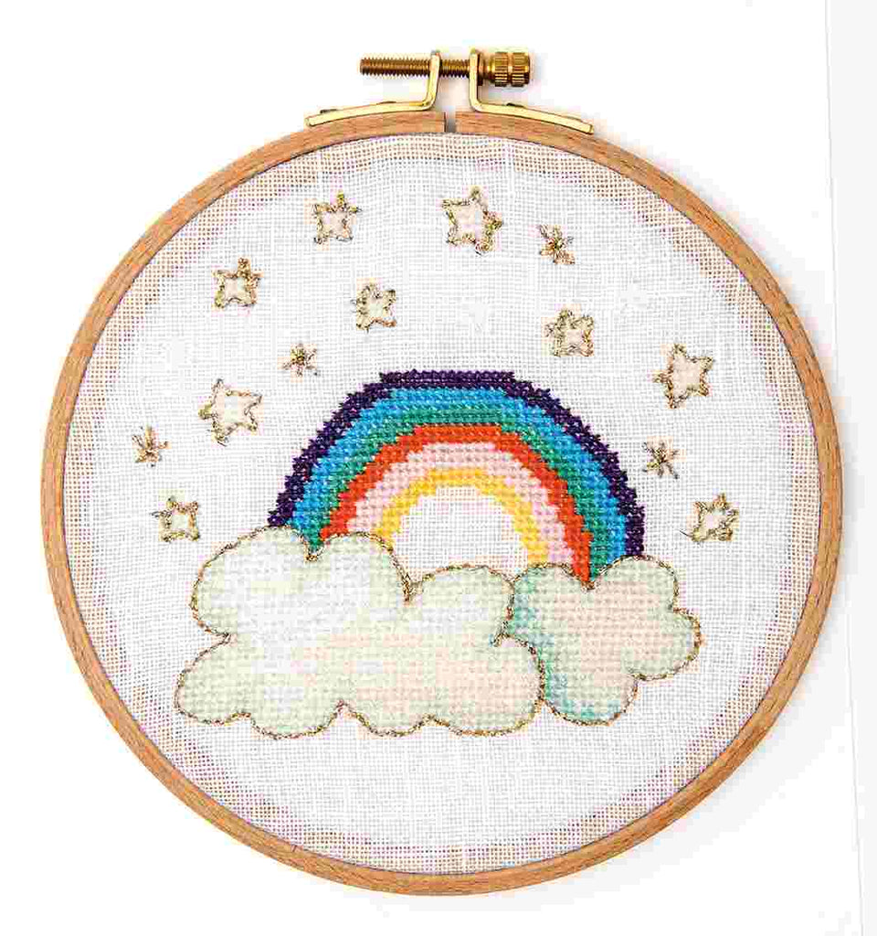 Rainbow & Clouds Embroidery Kit