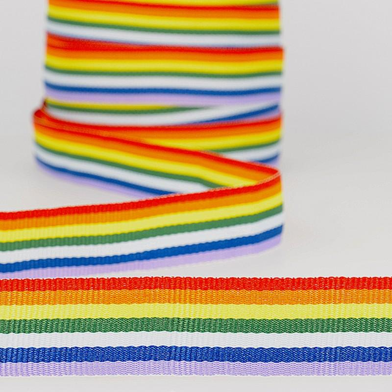Rainbow Grosgrain 20mm Col 100
