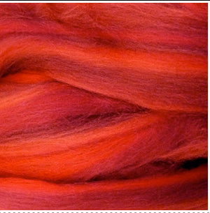 Red Hot Romantic blended wool tops for felting