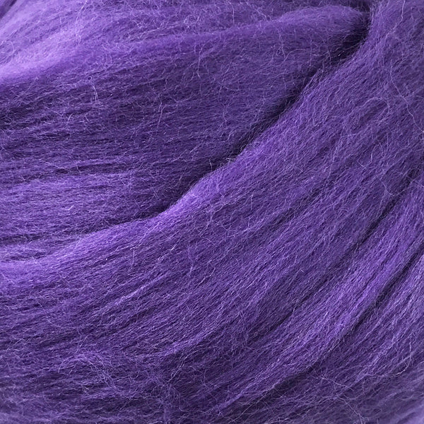 Regal Purple Merino wool tops for felting & giant knitting