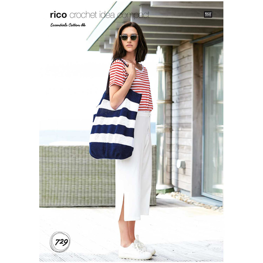 Rico Essentials Cotton Crochet Pattern 729 Bag