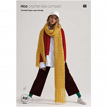 Rico Essentials Super Pattern 829 Crochet Scarf
