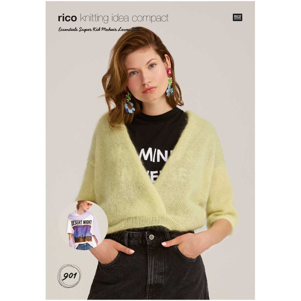 Rico Knitting Idea Super Kid Mohair Silk Wrap Jumper 901