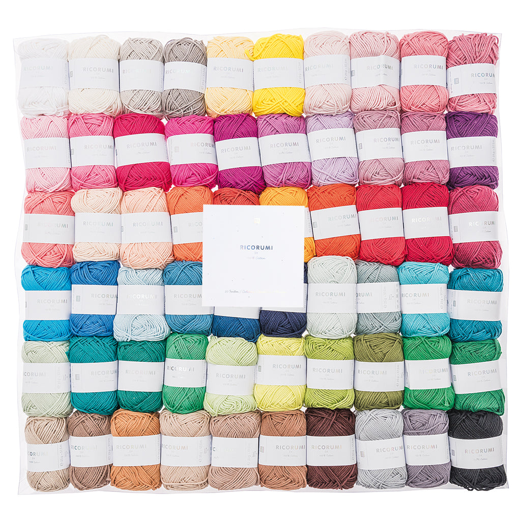 Ricorumi 60 x 25g Pack in all 60 colours flat pack
