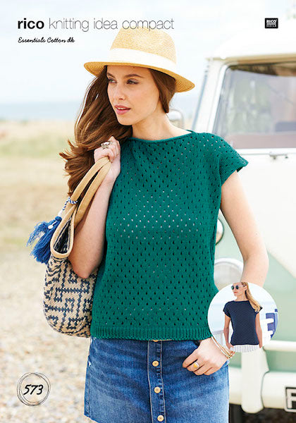 Rico Essentials Cotton DK Pattern Summer Tops 573