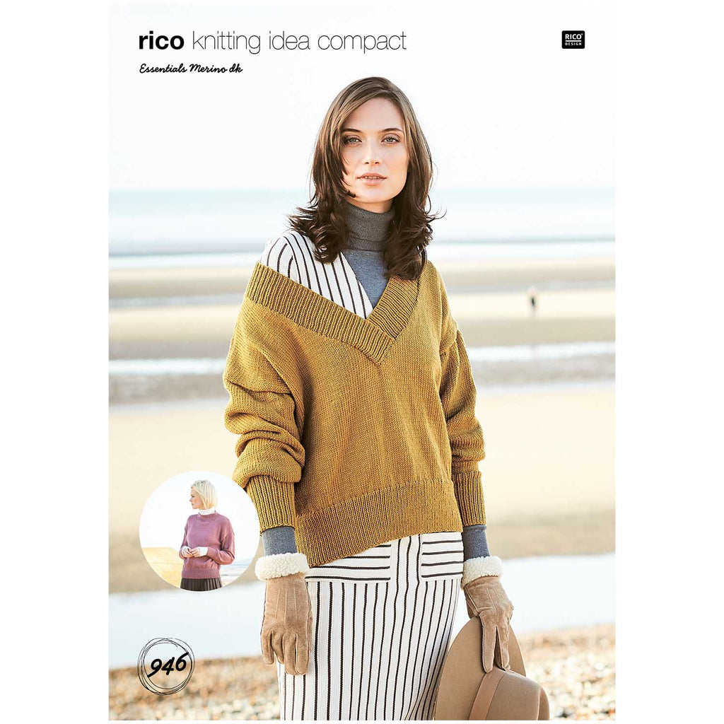 Rico Essentials Merino Jumper Knitting Pattern 946