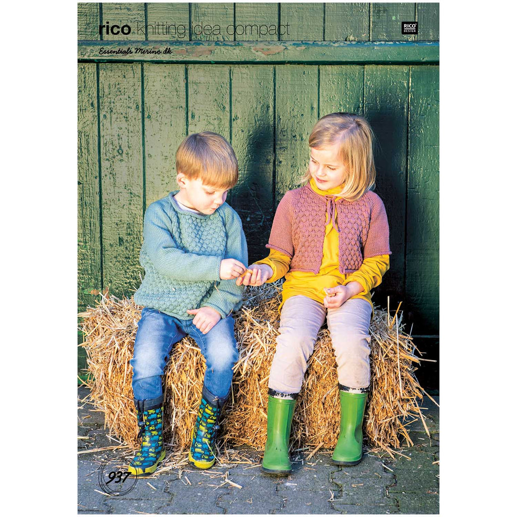Rico Essentials Merino Kids Jumper & Cardigan Knitting Pattern 937