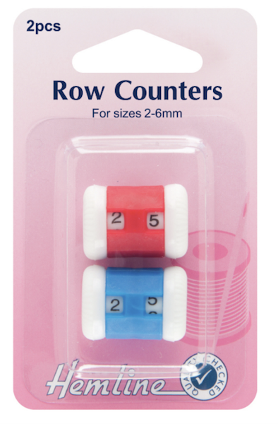 Row Counters: Red/Blue - 2-6mm, 2pcs