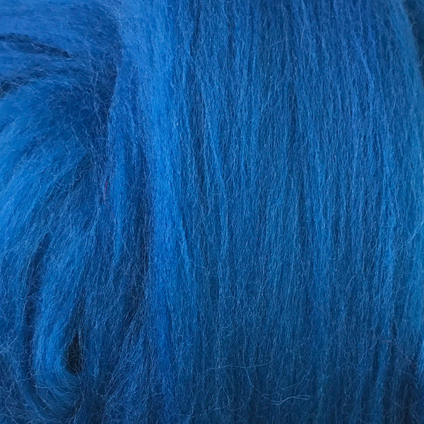100g Royal Blue Merino wool tops for felting & giant knitting