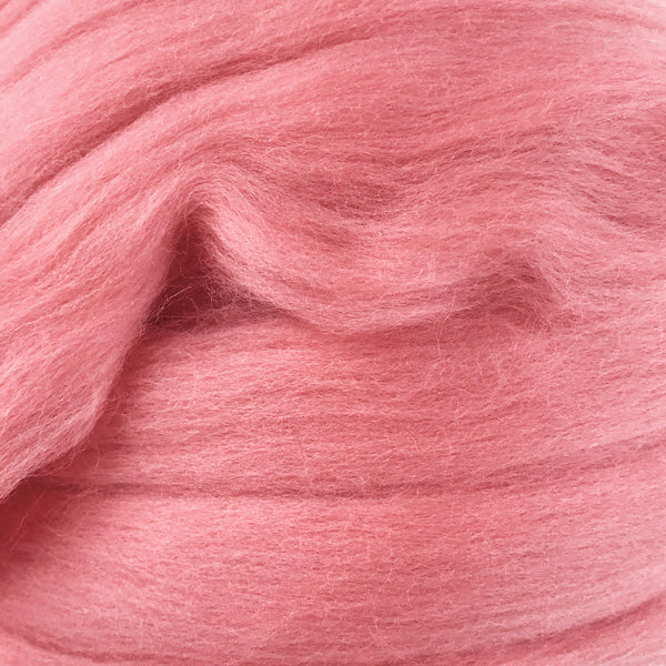 Salmon Pink Merino wool tops for felting & giant knitting