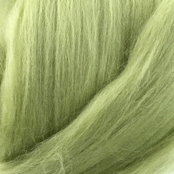100g Sage Green Merino wool tops for felting & giant knitting