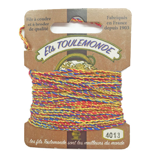 Sajou Novelty Rochefort thread 4013 yellow red and blue