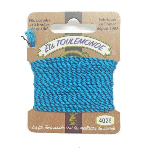 Sajou Novelty Rochefort thread 4026 Turquoise and black