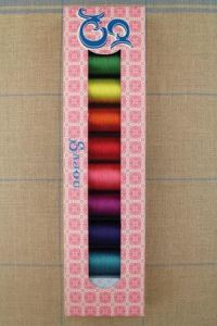 Sajou selection box 8 x 20m silk thread Summer Colours