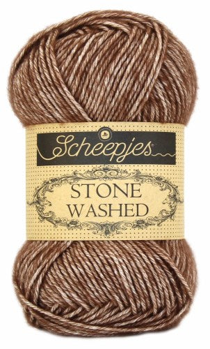 Scheepjes Stonewashed Yarn 822 Brown Agate