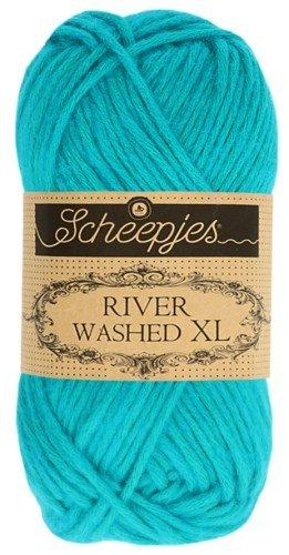 Scheepjes River Washed XL Aran Yarn 50g 988 Danube