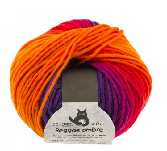 Schoppelwolle Reggae Ombre 1536 A Bed of Fuschia