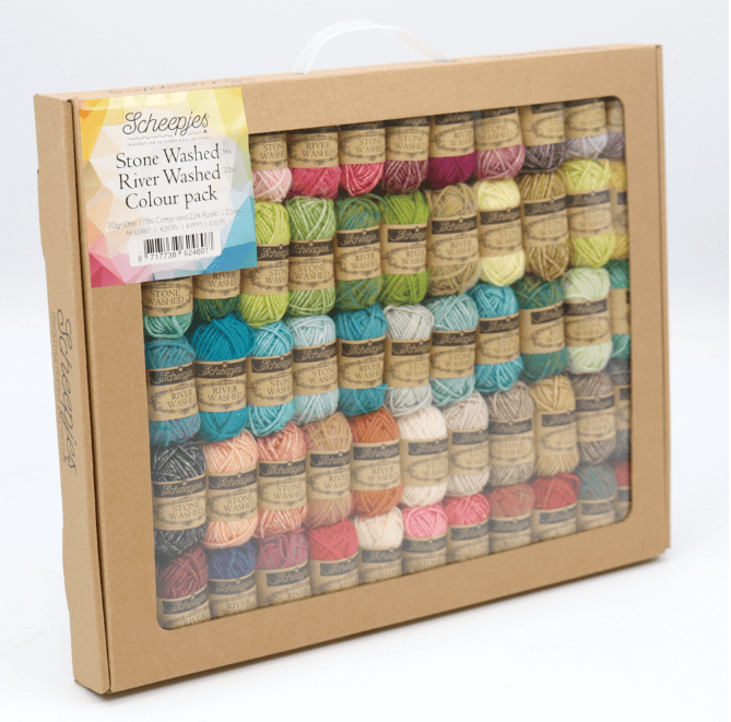 Stonewashed Riverwashed (Sport Weight) Colour Pack 58 x 10g