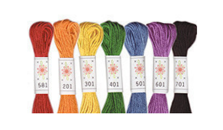 Sublime Floss Embroidery Cotton Selection : Rainbow