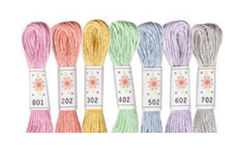 Sublime Floss Embroidery Cotton Selection : Frosting (Pastels)