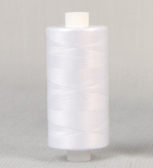 White Polyester Sewing Thread 1000m Reel