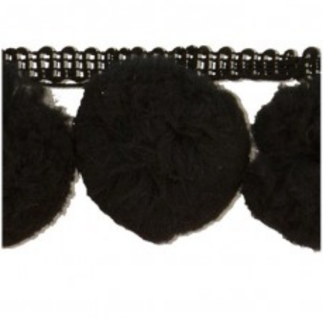 Giant Pompoms per metre Black 014