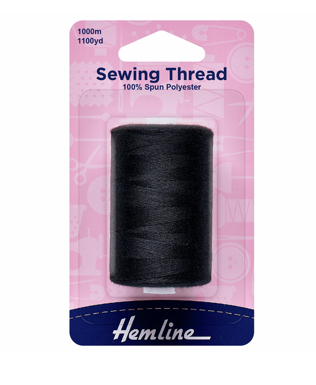 Sewing Thread: 1000m : Black