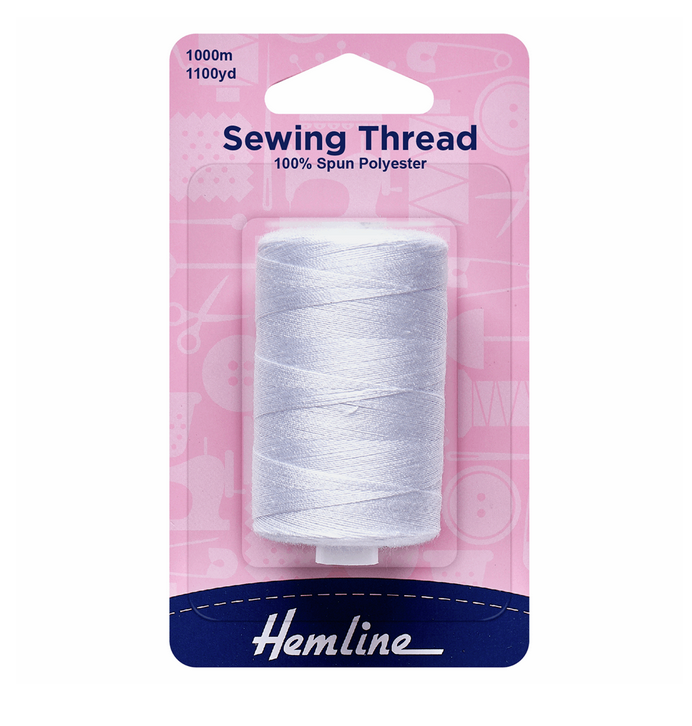 Sewing Thread: 1000m : White