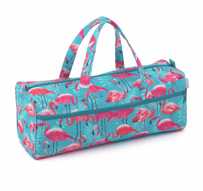 Knitting Bag: Flamingos