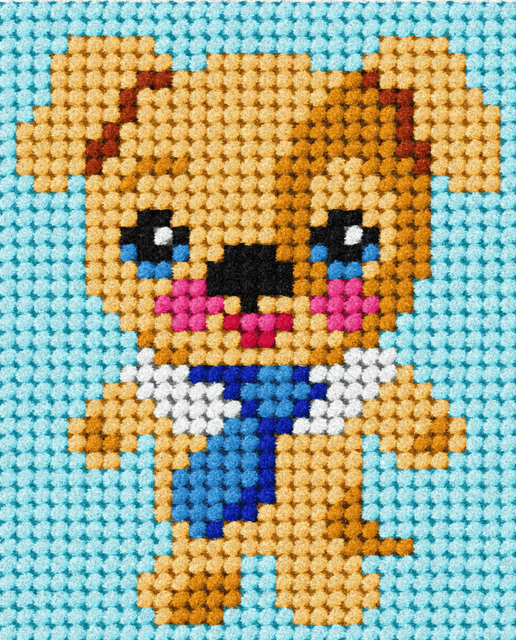 Children's Embroidery Tapestry Kit: My First Puppy